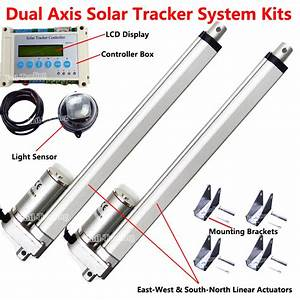 Dual Axis Lcd Solar Panel Tracking Tracker System Linear