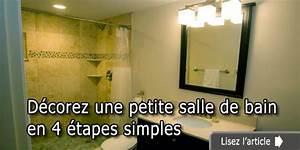 Décoration D Une Petite Salle De Bain : d corez une petite salle de bain en 4 tapes simples ~ Zukunftsfamilie.com Idées de Décoration
