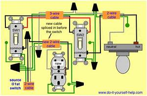 Diagram To Add A New Outlet Off A 3 Way Light Switch