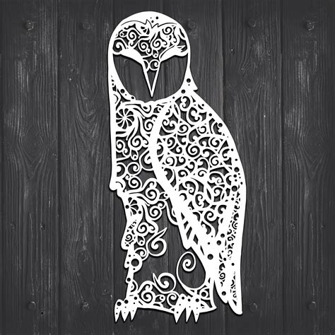 Svg hubs go to >>> home page contact: Mandala Owl Svg For Silhouette - Layered SVG Cut File ...