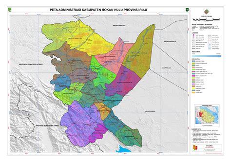 administrasi kabupaten rokan hulu peta tematik indonesia