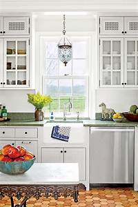 kitchen inspiration southern living With kitchen colors with white cabinets with glass candle holders australia