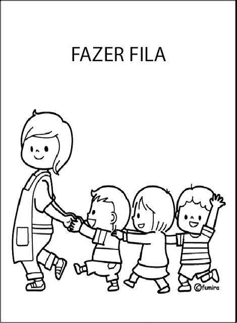 Dibujo De Niños En Fila Imagui