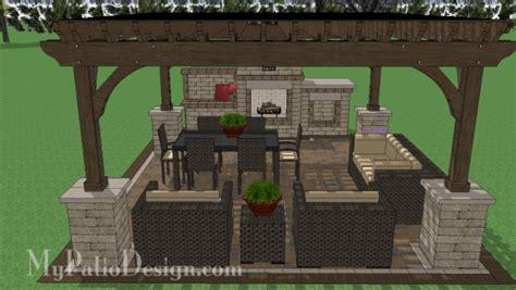 pergola design for maximum shade 16x16 cedar pergola design with columns downloadable plan mypatiodesign com