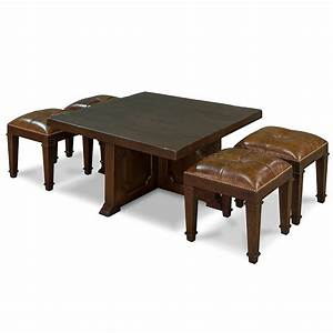 Coffee Table With 4 Nesting Stools So That39s Cool
