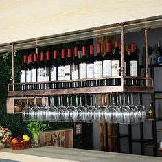 glass storage andy thornton bespoke overhead glasses rails bottle racks andy