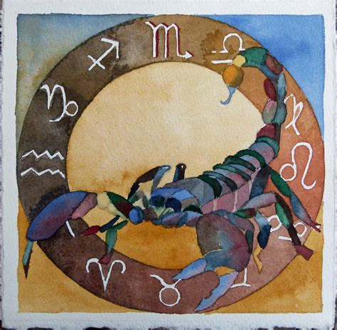 tierkreiszeichen skorpion bilder aquarelle vom meer