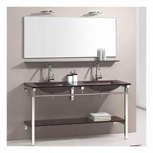 Meuble Salle De Bain Marron : meuble verre guide d 39 achat ~ Melissatoandfro.com Idées de Décoration
