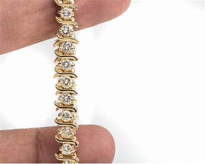 Diamond Bracelet Tennis Link Carat Gold Karat