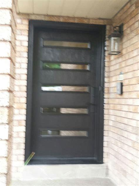 fiberglass modern single door   doors lites
