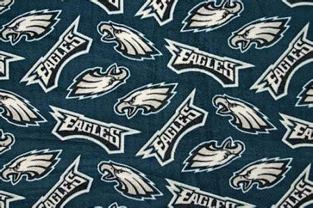 fleece philadelphia eagles green nfl football fleece fabric print   yard sdf