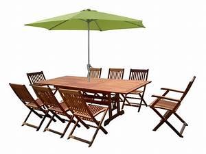 Parasol De Jardin : salon de jardin en bois exotique osaka bali 1 table extensible 180 240cm 2 fauteuils 6 ~ Teatrodelosmanantiales.com Idées de Décoration