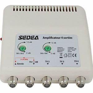 Ampli Pour Antenne Tv : amplificateur d 39 antenne 4 sorties etagees tnt hd tv ~ Premium-room.com Idées de Décoration