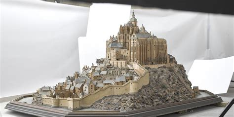 Plan Mont Michel by Plan Relief Mont St Michel Magazine Agence Photo Rmn Gp
