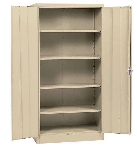 metal storage cabinet steel locking  doors lock garage