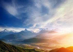 nature, , landscape, , mountains, , sunrise, , valley, , mist, , river