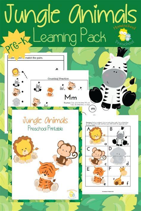 teach preschool with free jungle animal printables 649 | 127274cb04376568e415cf07fc977802