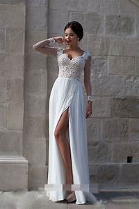 mzyw0307 full long sleeve lace applique beaded see through With see through bodice wedding dress