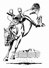 Horse Bucking Clipart Bronc Horses Saddle Drawings Clip Coloring Western Cartoon Riding Animals Wpclipart Rider Bronco Drawing Line Pencil Illustration sketch template