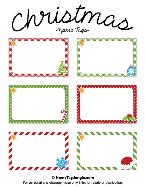 Place Card Templates Freechristmas Template Free Printable Name Tags The Template Can Also