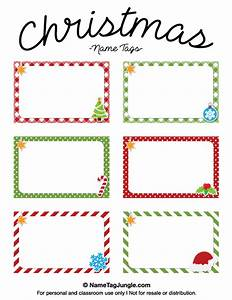 Free printable christmas name tags the template can also be used for creating items like labels for Christmas printable name tags