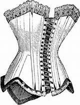 Corset Line Corsets Coloring Farthingales Crinolines Various Thatscrafty sketch template