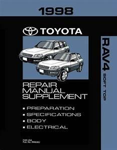 Oem Repair Maintenance Shop Manual Bound Toyota Rav4 Soft