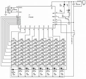 64 key infra red remote transmitter circuit pcb using With diagram nintendo 64 controller cnc circuit board schematic diagram
