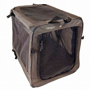 Bergan dog travel crate extra large in black tan for Xl dog travel crate