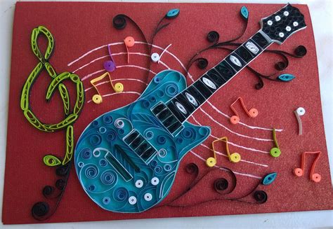 birthday card  quilled guitar quilling patterns