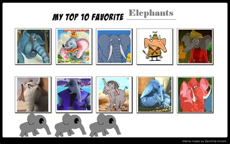 My Top 10 Favorite Elephants By Sithvampiremaster27 On