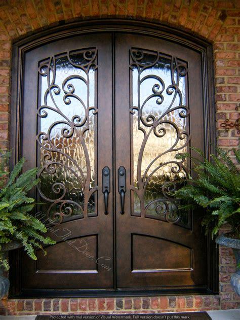 custom  iron door installed  universal iron doors