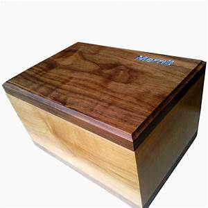 Buy a Custom Made Maple And Walnut Keepsake Box With