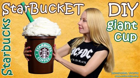 giant starbucks cup diy starbucks storage