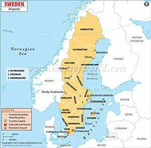 Airports in Sweden, Sweden Airports Map