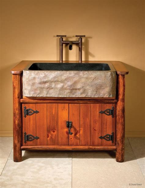 farmhouse sink cabinet ideas 237 best rustic powder rooms images on pinterest room
