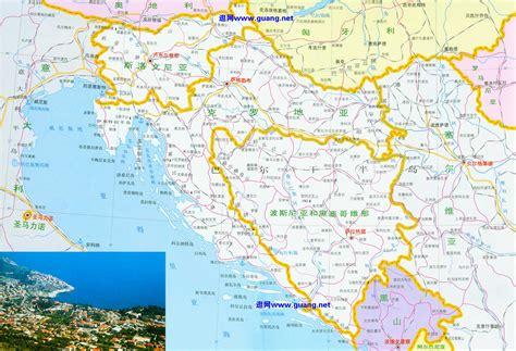 克罗地亚,波黑,斯洛文尼亚地图