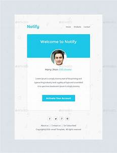 notify notification email template psd by With it notification email template