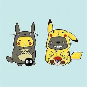 Pikachu and Totoro cosplay! by British artist CartoonGirl ...