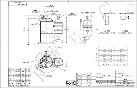 compressor hermetic rotary gmcc da110s1c 30fz area cooling solutions
