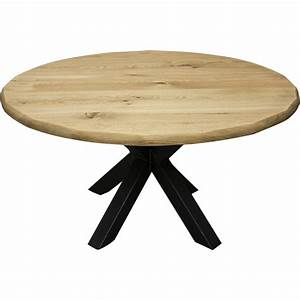 table ronde en chene massif trunk With table ronde bois massif