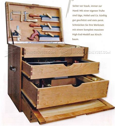 woodworking tool chest plans workshop solutions tools   woodworking tool