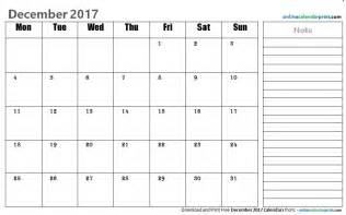 Editable Word Calendar Template 2017