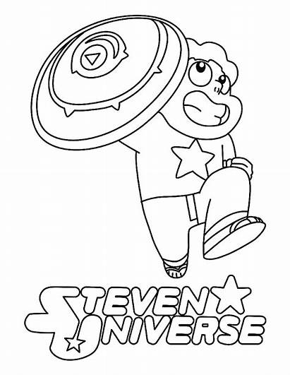 Steven Universe Coloring Pages Printable Sheet Shield