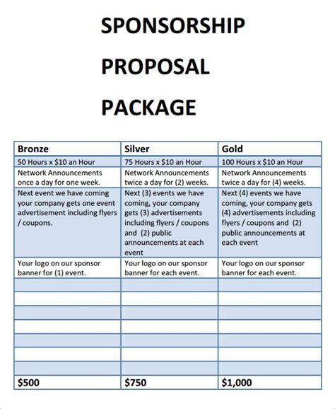 sample sponsorship proposal templates sample templates