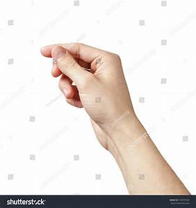 Adult Man Hand Hold Something Isolated Stock Photo ...