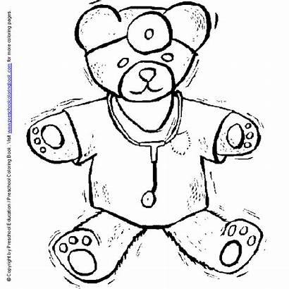 Coloring Doctor Hospital Medical Stethoscope Pages Nurse