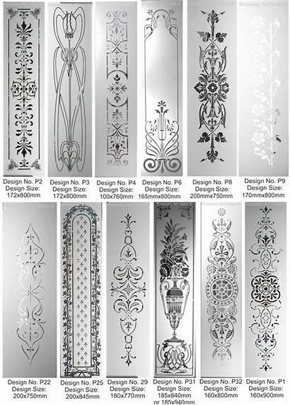 Glass Etched Designs Door Panels Panel Standard