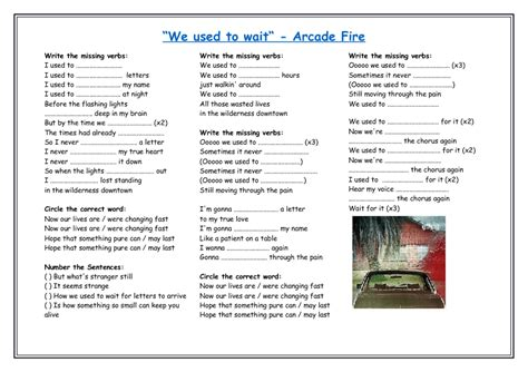 84 Free 'used To' And 'would' Worksheets