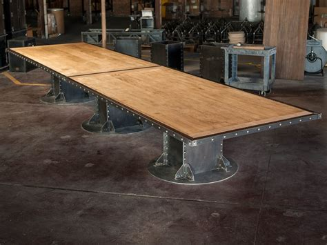 beam conference table vintage industrial furniture